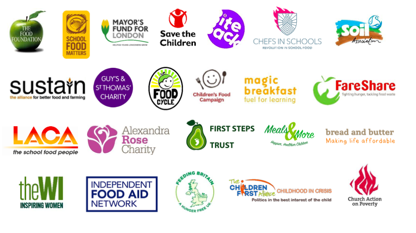 End Child Food Poverty logos